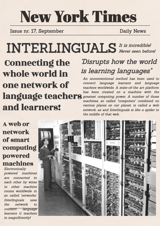 News: Interlinguals startup connects language learners and language teachers